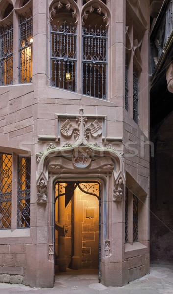 építészeti részlet bent kastély részlet történelmi fal Stock fotó © prill