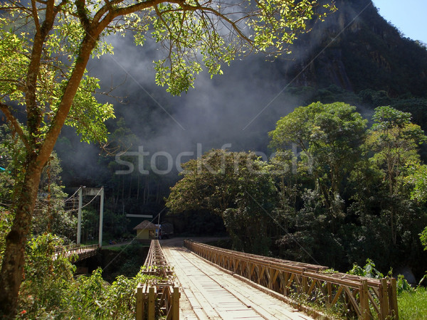 Köprü Machu Picchu ahşap eski şehir Peru Stok fotoğraf © prill