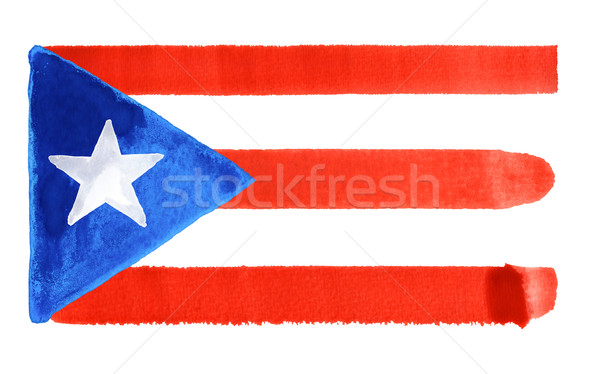 Puerto Rico pavillon illustration couleur pour aquarelle fond art Photo stock © prill
