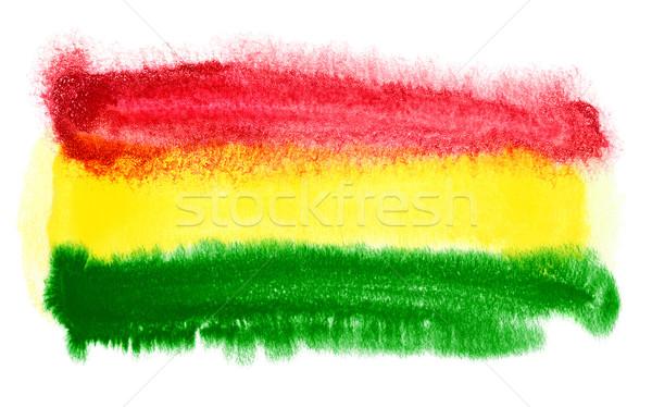 Боливия флаг иллюстрация акварель фон искусства Сток-фото © prill