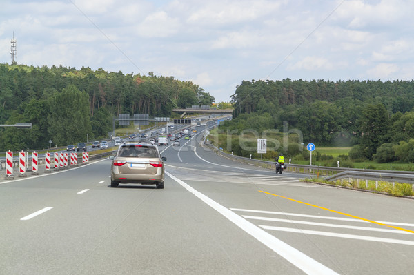 highway with road construction zone Stock photo © prill