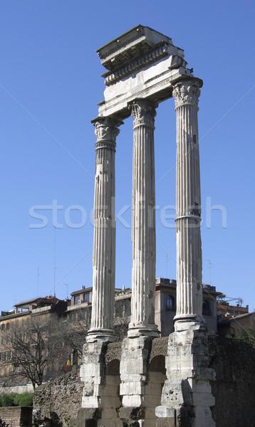 Temple of Vespasian columns Stock photo © prill
