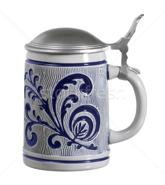 blue ornamented stein Stock photo © prill