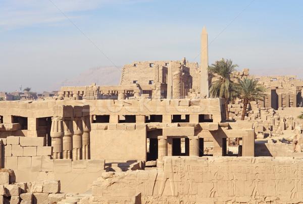 sunny illuminated Precinct of Amun-Re in Egypt Stock photo © prill