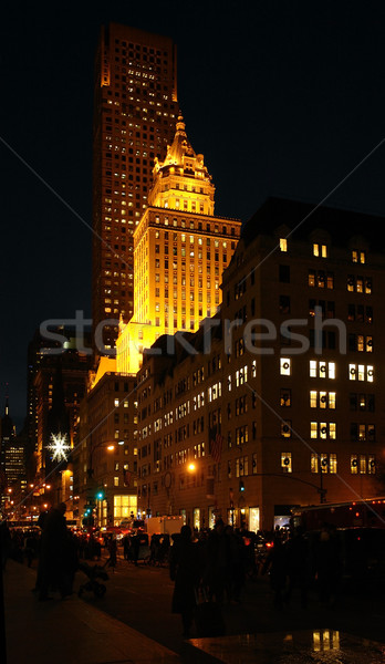 New York street scenery at night Stock photo © prill