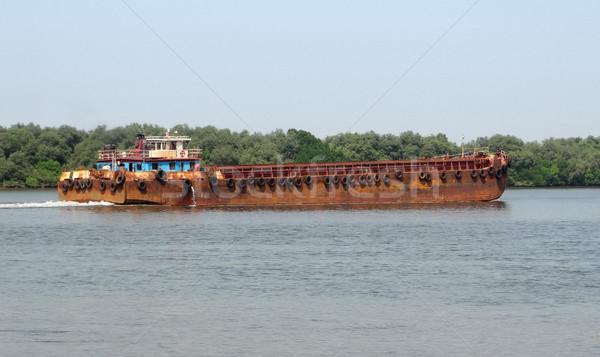 ржавые лодка реке Гоа Индия воды Сток-фото © prill