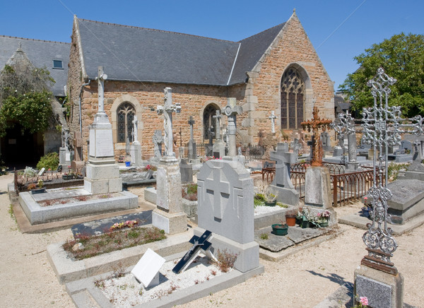 Stock photo: breton cemetery