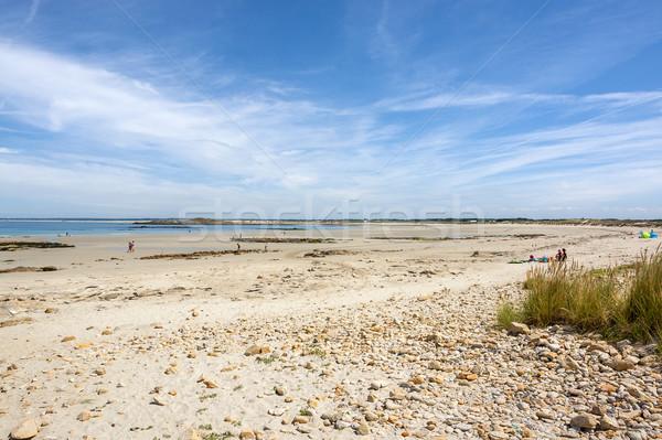 sunny beach in Brittany Stock photo © prill