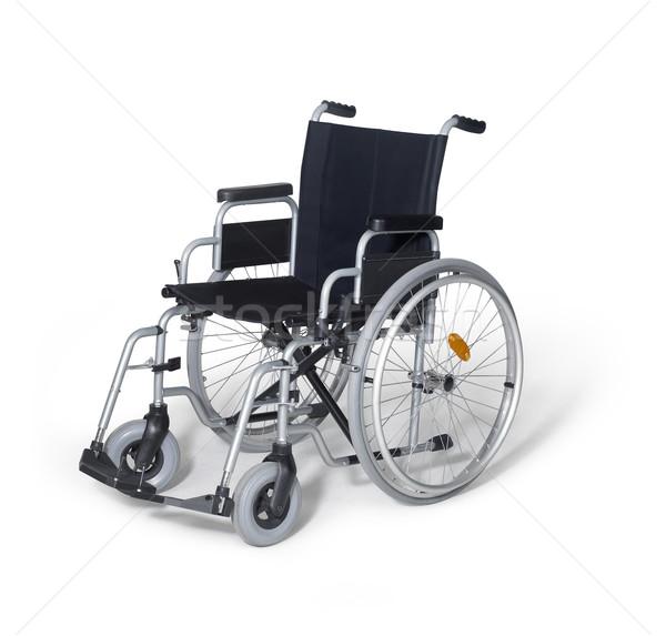 Foto stock: Cadeira · de · rodas · branco · de · volta · estúdio · fotografia · vazio