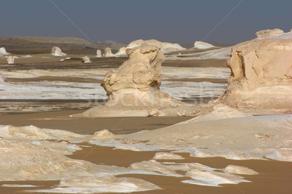 Egyiptom fehér sivatag sziklaformáció természet tájkép Stock fotó © prill