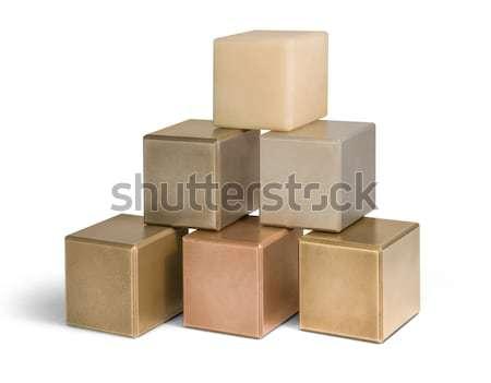 mostly metallic cubes Stock photo © prill