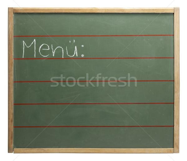 Menue blackboard Stock photo © prill