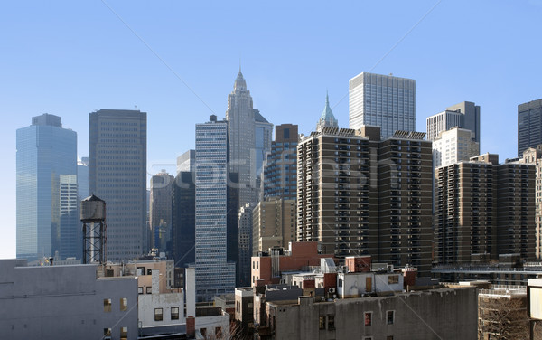 New York skyline in sunny ambiance Stock photo © prill