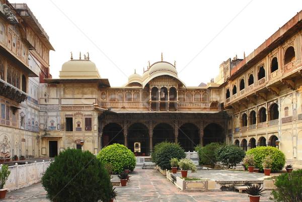 город дворец декораций вокруг Индия вечер Сток-фото © prill