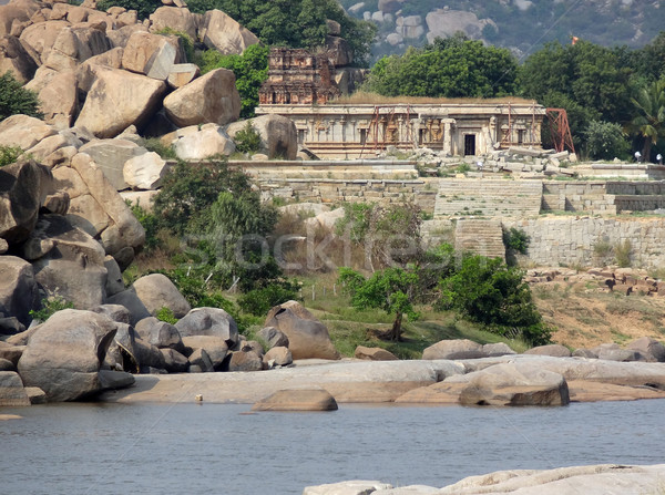 around Tungabhadra River river Stock photo © prill