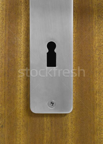 前方後円墳 木製 ドア 詳細 セキュリティ 鋼 ストックフォト © prill