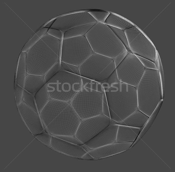 Foto stock: Futebol · arame · esfera · cinza