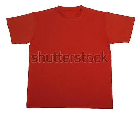 Сток-фото: красный · футболки · белый · назад · рубашку · платье