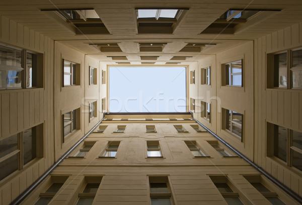 Prag izlenim mimari detay Çek Cumhuriyeti pencere kentsel Stok fotoğraf © prill
