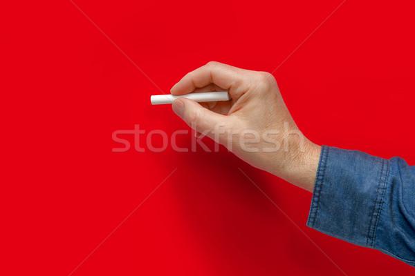Mano bianco pastello maschio rosso indietro Foto d'archivio © prill