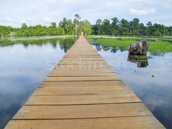 Ponte angkor Camboja árvore paisagem Foto stock © prill