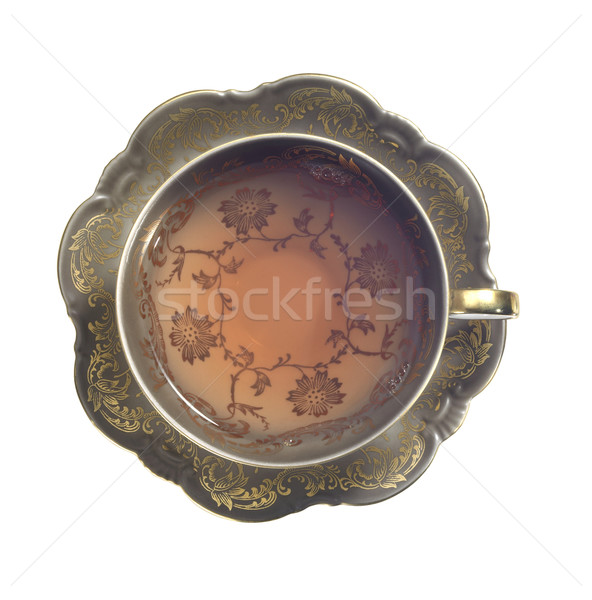 filled nostalgic tea cup Stock photo © prill