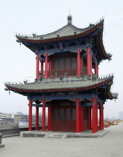 building upon the city wall of Xian Stock photo © prill