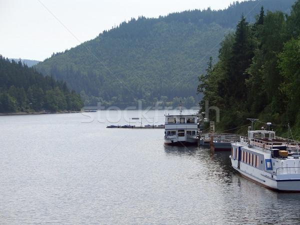 Stock photo: waterside scenery in Thuringia