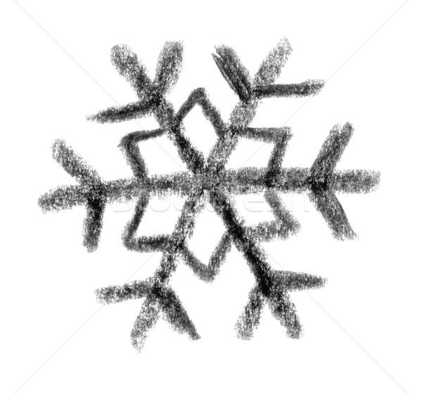 Sneeuwvlok icon illustratie verf sneeuw ijs Stockfoto © prill