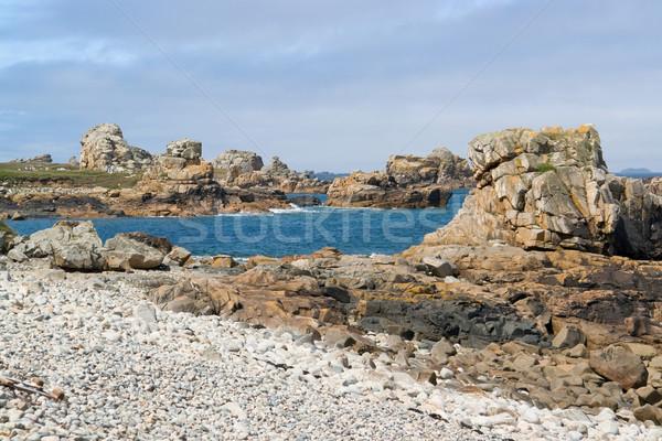ピンク 花崗岩 海岸 夏 風景 ビーチ ストックフォト © prill