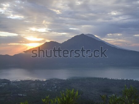 Mount Batur in Indonesia at evening time Stock photo © prill