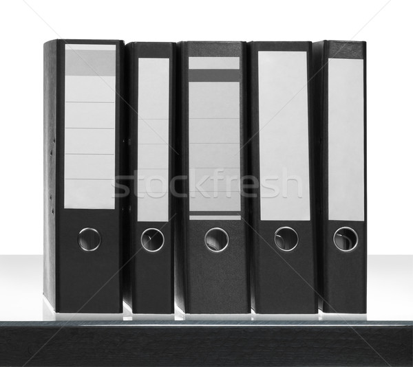 folders on desk surface Stock photo © prill