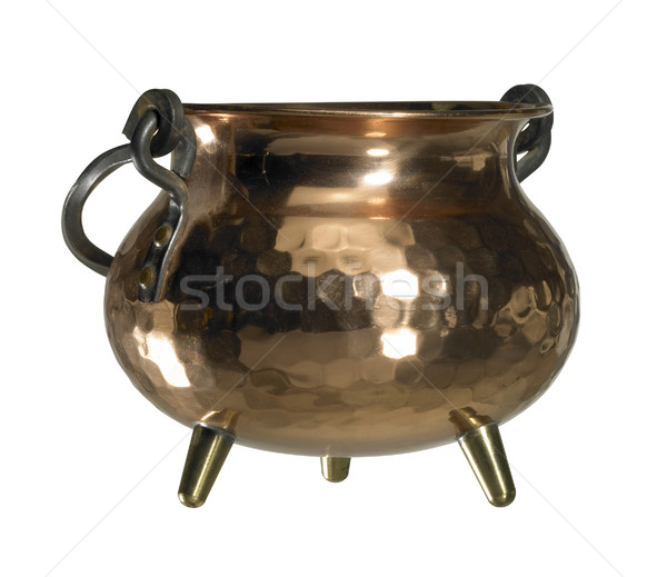 copper cauldron Stock photo © prill