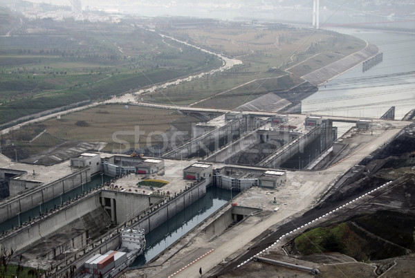 Three Gorges Dam in China Stock photo © prill
