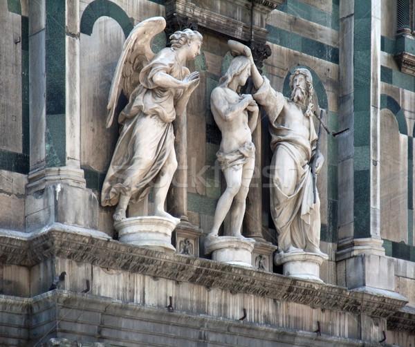 Dettaglio architettonico firenze angelo Italia costruzione Foto d'archivio © prill