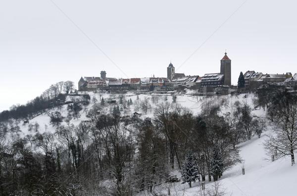 Waldenburg at winter time Stock photo © prill