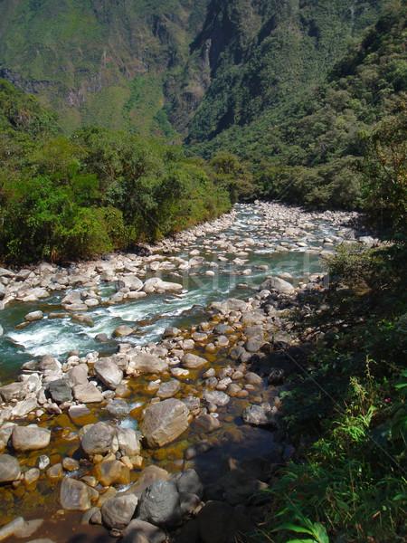 Manzara etrafında Machu Picchu nehir eski şehir Stok fotoğraf © prill