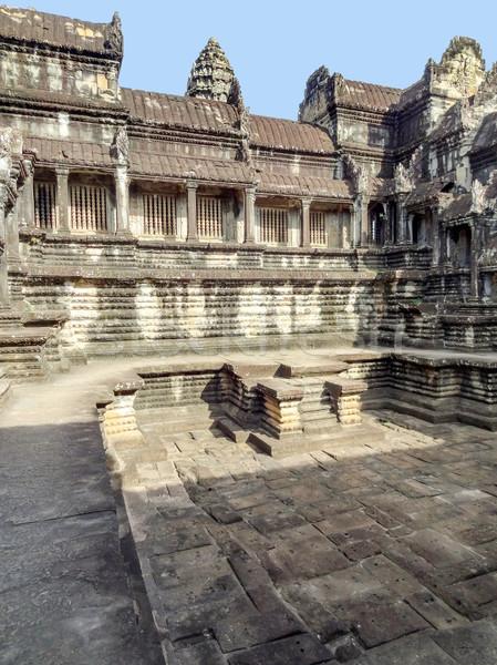 Angkor Wat Kamboçya tapınak karmaşık Bina taş Stok fotoğraf © prill