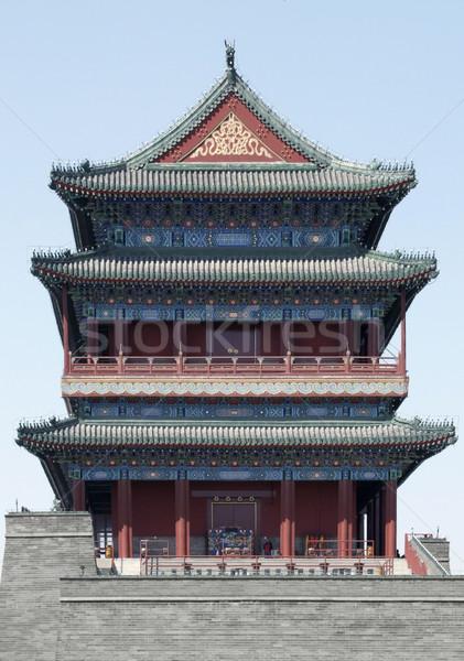 building in Beijing Stock photo © prill
