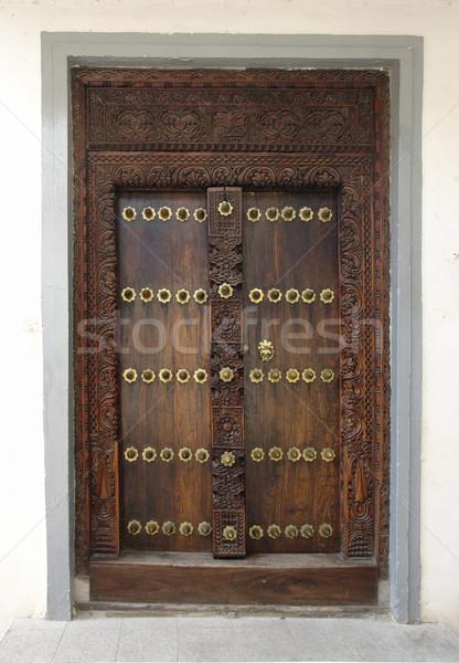 ornamented door in Africa Stock photo © prill