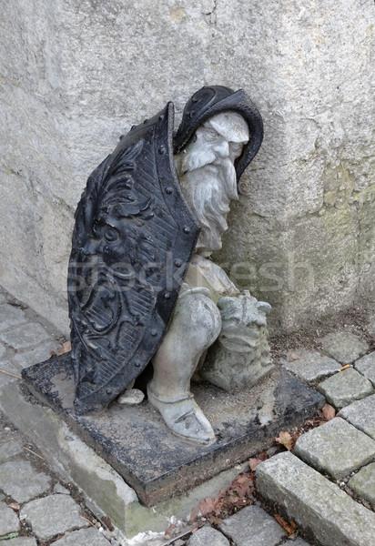 Guard stone at Marienburg Castle Stock photo © prill