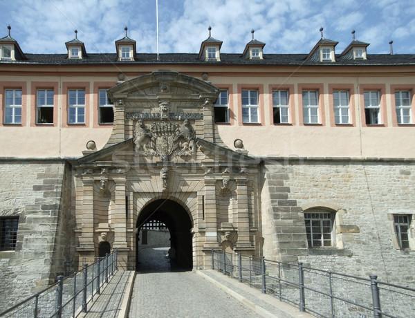 Fortezza ingresso città ponte pietra architettura Foto d'archivio © prill