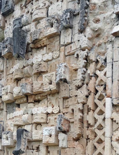 Tempio dettaglio dettaglio architettonico rovine muro architettura Foto d'archivio © prill