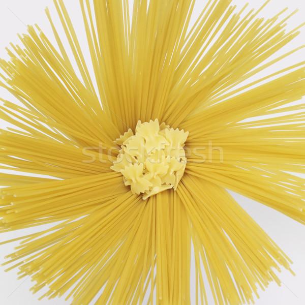 radial spaghetti and farfalle Stock photo © prill