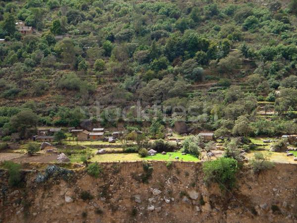 settlement at Colca Canyon Stock photo © prill
