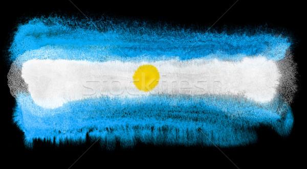 Argentína zászló illusztráció vízfesték háttér művészet Stock fotó © prill