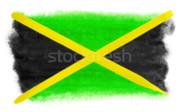 Jamaica bandera ilustración acuarela fondo arte Foto stock © prill