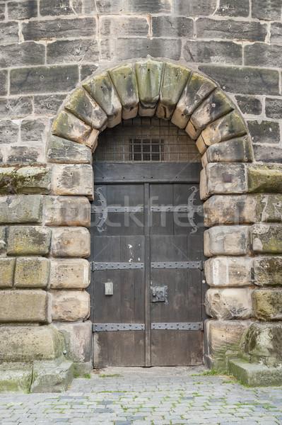 historic entrance in Nuremberg Stock photo © prill