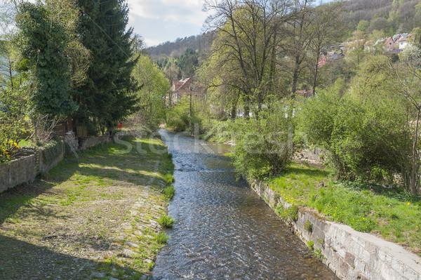 river Sinn in Bad Brueckenau Stock photo © prill