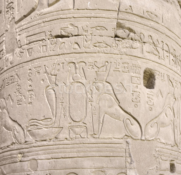relief at a column in egypt Stock photo © prill